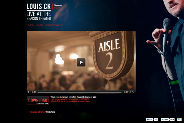 beacon theater streaming page